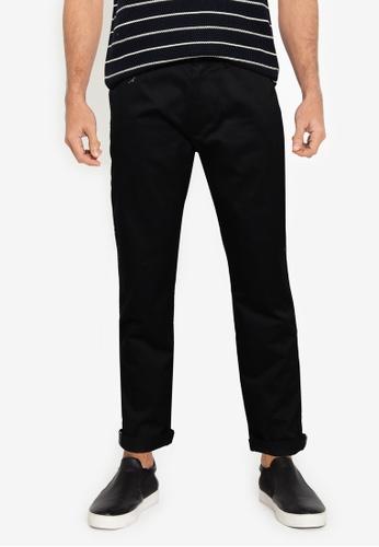 Ben Sherman black Signature Slim Stretch Chino Trousers 63035AAA04C7FDGS_1