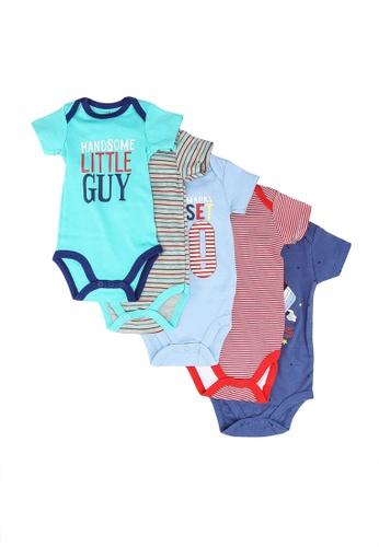Milliot & Co. multi Alijah Boys Newborn Bodysuit 5-Pack 0026FKAA5D8C79GS_1