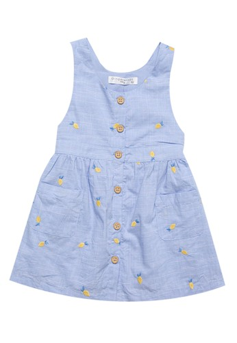 Gingersnaps Gingersnaps LA PETIT CUISINE DRESS BLUE/YELLOW 3C5BFKAD7DD9A3GS_1