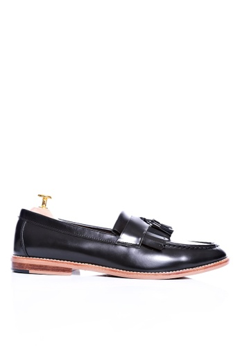 2325512b391 Zeve Shoes black Zeve Shoes Fringe Loafer - Black Polished Leather  30BF7SHD369E9EGS 1