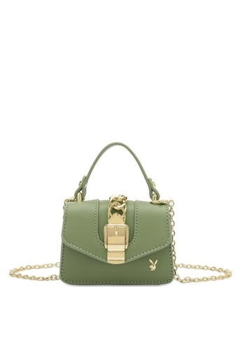 PLAYBOY BUNNY green Women's Sling Bag / Shoulder Bag / Crossbody Bag 4A8AAAC92DB0D2GS_1