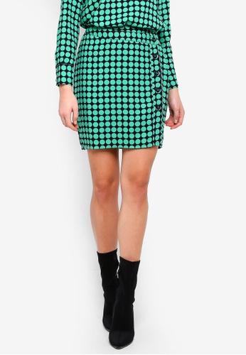 Vero Moda navy Sarah Dot H/W Knee Skirt 211F9AA98C1C81GS_1