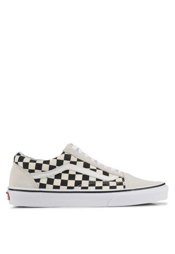 VANS black and white Old Skool Checkerboard Sneakers VA142SH0SWRFMY_1