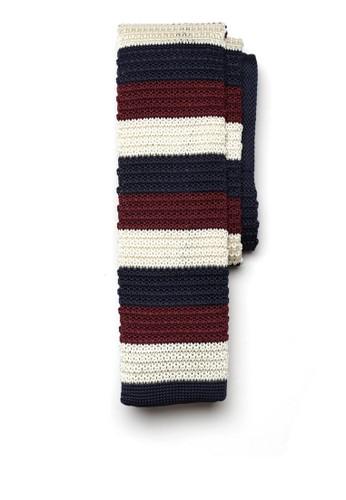 針織條紋領帶, 飾品配件,esprit hk outlet 飾品配件