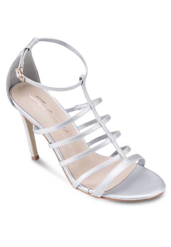 zalora 台灣簡約羅馬高跟涼鞋, 女鞋, 鞋
