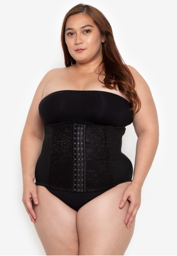 Golden Ticket Super Savers black Waist Trainer for Daily Use, Innerwear and Post Partum (Spandex Polyester Lace) 24552USB25E2CBGS_1