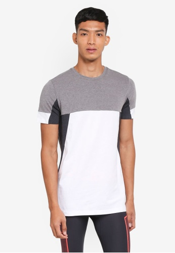 Under Armour grey and multi Sportstyle Colorblock T-Shirt UN337AA0SU75MY_1