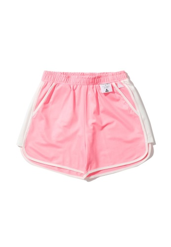 Mini cream pink Colour contrast track shorts 9AFC4AA2118CB8GS_1