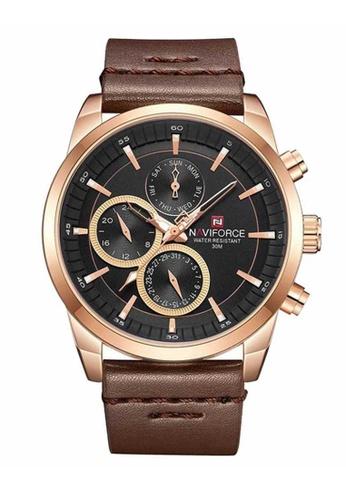 Naviforce brown Naviforce Rose Gold and Brown Watch 7481DAC78ED20EGS_1