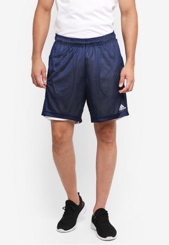 adidas navy adidas ess chlsea mesh reversible shorts AD372AA0SUFKMY_1