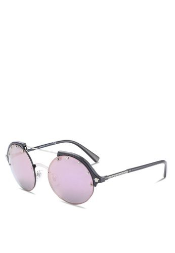 f7b6577a77b6 Buy Versace Round Studded VE4337 Sunglasses Online on ZALORA Singapore