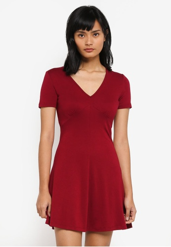Something Borrowed red Fit And Flare Knit Dress 233B7AADCF6B68GS_1