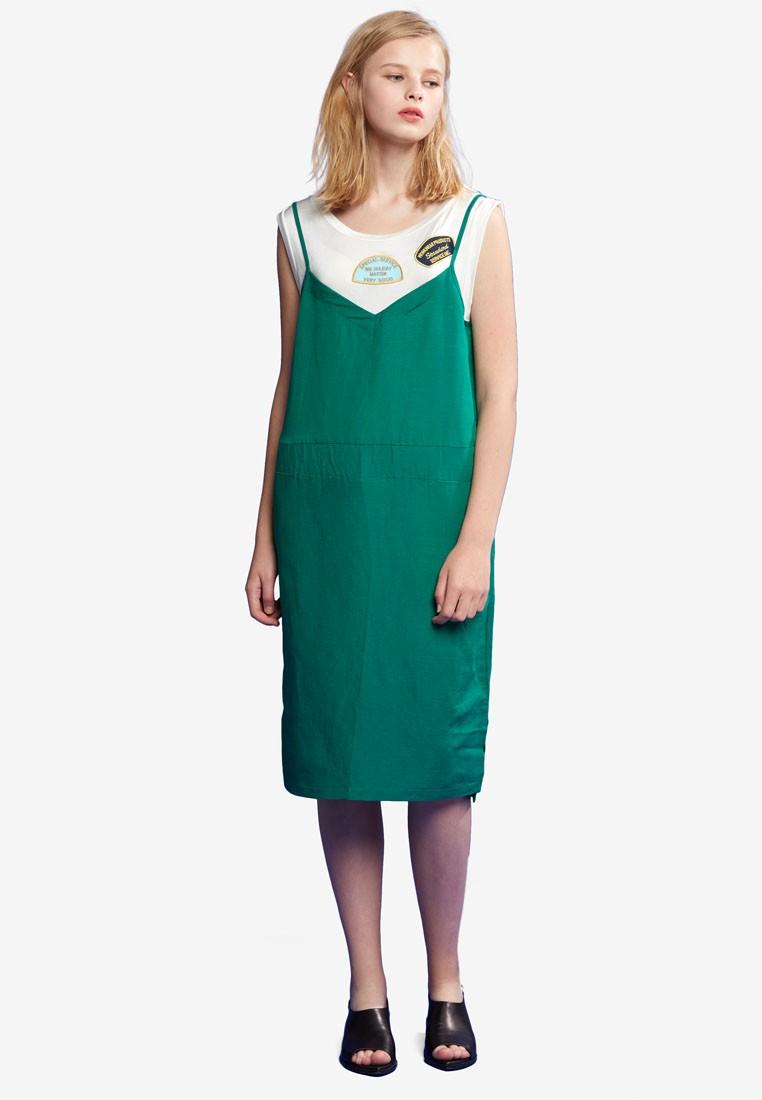 Green Camisole Dress