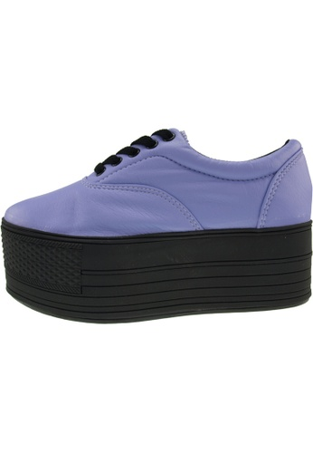Maxstar 紫色 新款韩国鞋C60-5H-TC時尚皮革布混合女紫色 US Women Size MA345SH41HHATW_1