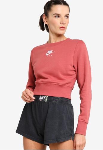 Nike white Women's Air Fleece Crew Sweatshirt 1E280AA2CF9E7AGS_1