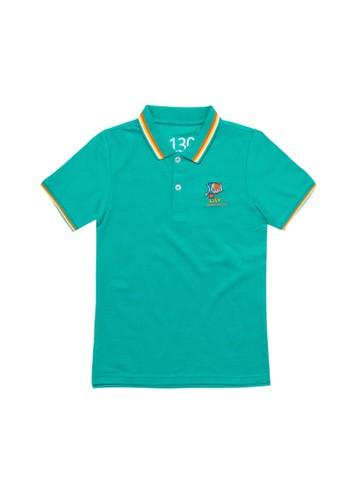 Giordano green Embroidery Polo Shirt E2DBDKAF2C377FGS_1