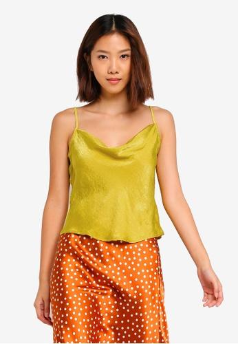 Cotton On yellow Delta Cowl Neck Cami Top C99EBAA29663A5GS_1