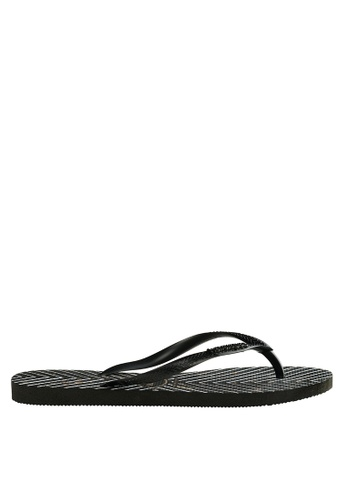 e8395ce90 Shop Havaianas Slim Logo Metal Print Flip Flops Online on ZALORA Philippines