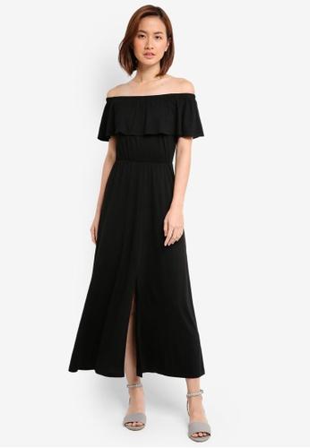 ca552eb93aa Buy ZALORA Off Shoulder Maxi Dress
