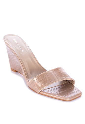 Primadonna beige Wedge Sandals 6E5BASHA0A4D14GS_1