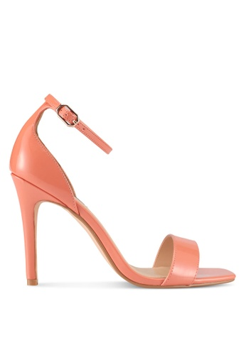 ZALORA orange Square-Toe Patent Heels with Ankle Strap C8000SH72A666BGS_1