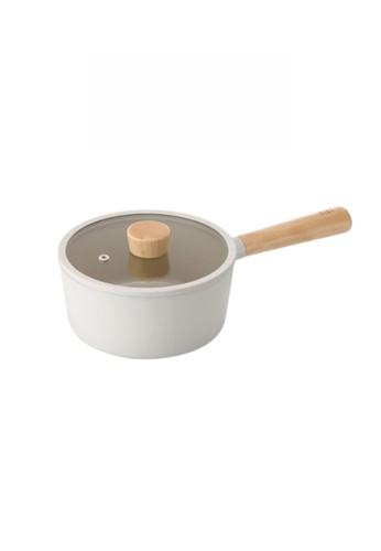 Neoflam white NEOFLAM Fika 18cm Saucepan with Xtrema Ceramic Coating (Incl. Silicone Glass Lid) 4676EHL7EA7148GS_1