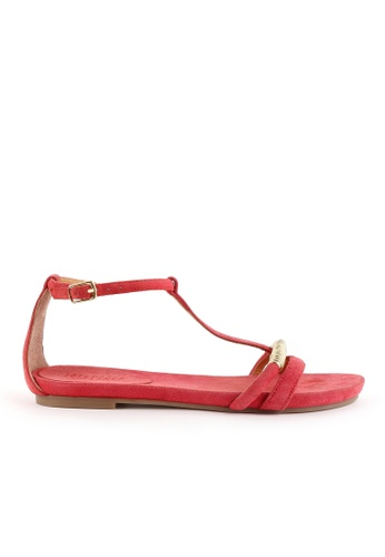 Joy & Peace red T-Strap Sandals JO458SH92JLRHK_1