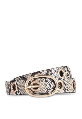 Dorothy Perkins multi Multi Colour Snake Print Eyelet Detail Belt 08E60AC374BDAEGS_1