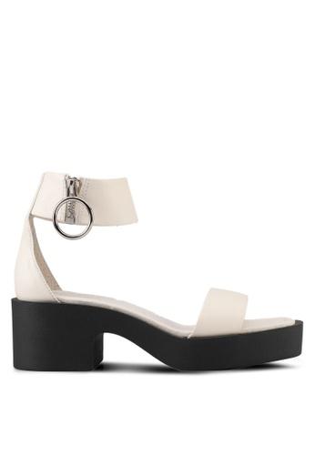 E8 by Miista 白色 金屬環繞帶粗跟涼鞋 E8283SH0STHWMY_1