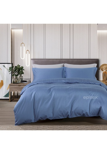 Epitex blue Epitex CD2538-2 1000TC Supima Black Cotton Collection Dobby (Fitted Sheet, w/o quilt cover). 12D8DHL379DA5FGS_1
