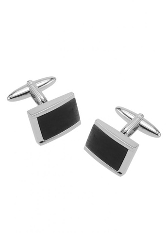 CUFF IT grey Beveled Grey Catseye Cufflinks CU047AC35SIAHK_1