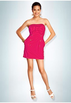 Devidasi Pink Beverly Bow Cocktail Dress