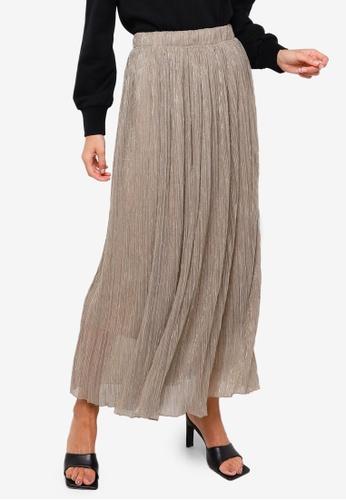 Vero Moda beige Polaris High Waist Skirt 5692BAAC225317GS_1