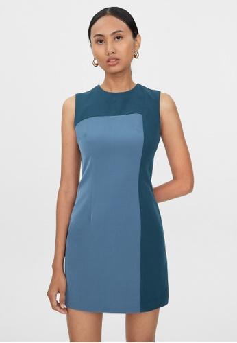 Pomelo blue Mini Two Tone Dress - Navy 9CEF5AA73CBBEEGS_1