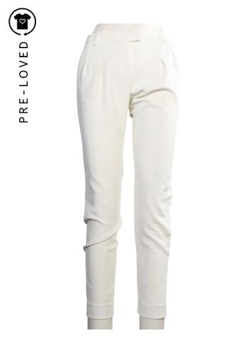 MAJE white maje White Pants 15F0FAA30CEA86GS_1