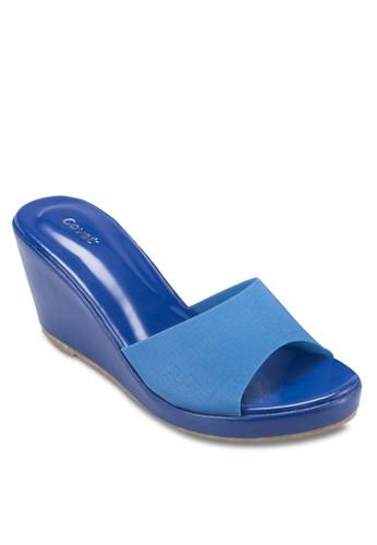 露趾楔形涼鞋esprit hk, 女鞋, 楔形涼鞋