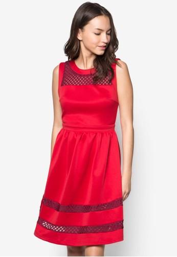 Hitomi 拼接連身裙,esprit 台北 服飾, 服飾