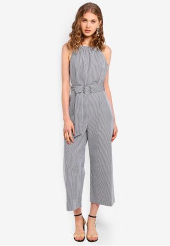 e7418c1c5a0f Shop WAREHOUSE Stripe Cotton Jumpsuit Online on ZALORA Philippines