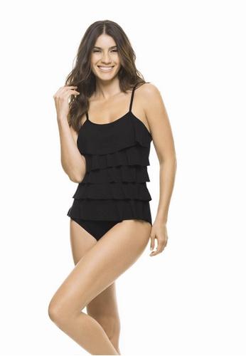 d03e6ea0b7 Buy Estivo Black Ruffle Tummy Control Swimsuit Online on ZALORA ...