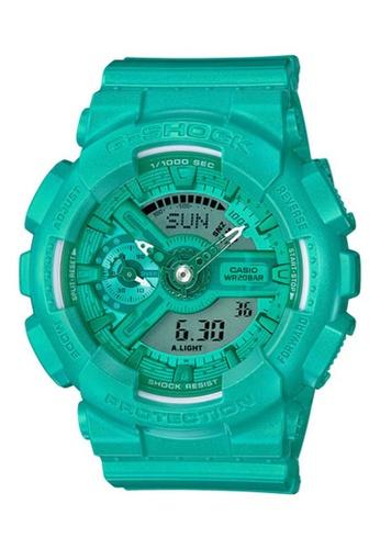 CASIO green Casio G-Shock Green Resin Watch 2B84CAC6FC775FGS_1