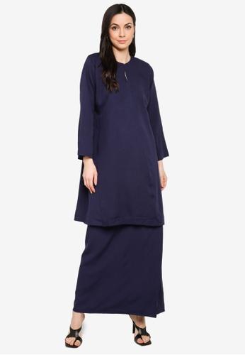 Butik Sireh Pinang blue Baju Kurung Pahang Salimah 1405EAA24AB669GS_1