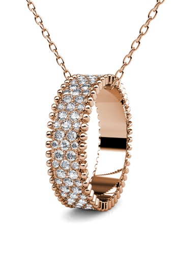Her Jewellery gold Alexis Pendant (Rose Gold) - Made with premium grade crystals from Austria 26887AC5769F02GS_1
