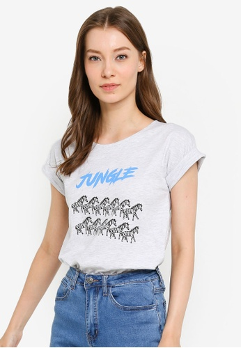 Compania Fantastica grey Jungle T-Shirt 63D1FAAEABF4B7GS_1