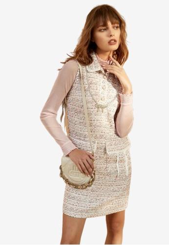 iROO multi Sleeveless Tweed Dress 8B069AAE4B8840GS_1