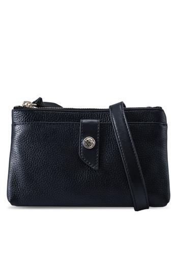 Michael Kors black Medium Pebbled Leather Crossbody Bag (zt) 49873AC891D205GS_1
