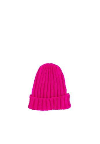 UhOh pink UhOh Ribbed Beanie 403D8KCCB8728FGS_1