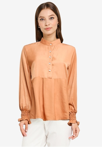 BYN brown Muslimah Long Sleeve Top 6E14BAA9D42E9CGS_1