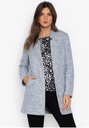DEBENHAMS grey The Collection - Cc Textured Lightweight Coat BFEE6AAB191FCDGS_1