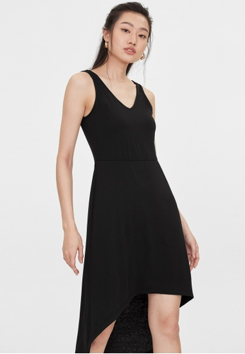 Pomelo black V Neck Sleeveless Dress - Black 98F6CAA0B05350GS_1