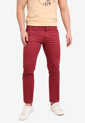 MANGO Man red Slim-Fit 5 Pocket Cotton Trousers A1A5BAAE602491GS_1